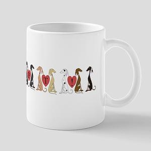 Greyhound Adopt Line Mug