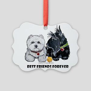 Westie Scottie Best Friends Picture Ornament