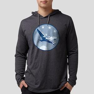Vintage Propeller Airplane Retro Mens Hooded Shirt