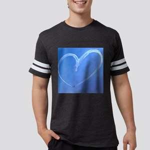 sky heart   10x10 Mens Football Shirt