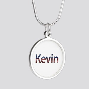 Kevin Stars and Stripes Silver Round Necklace