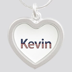 Kevin Stars and Stripes Silver Heart Necklace
