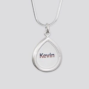 Kevin Stars and Stripes Silver Teardrop Necklace