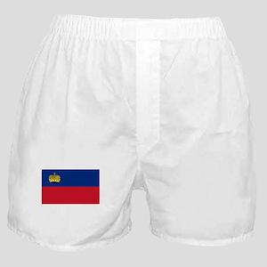 Liechtenstein Flag Picture Boxer Shorts
