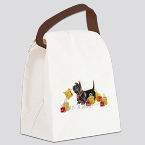 Scottie Shopping Canvas Lunch Bag