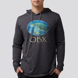OBX Sea turtle Mens Hooded Shirt