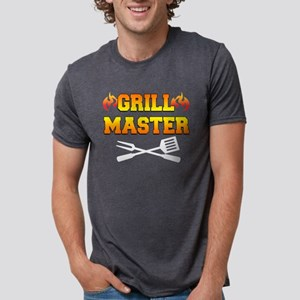 Grill Master Dark Apron Mens Tri-blend T-Shirt