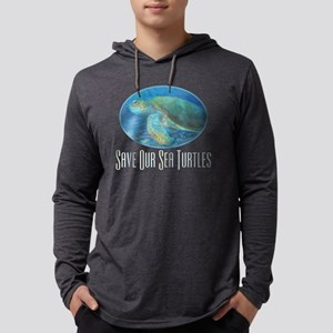 save our sea turtles for dark sh Mens Hooded Shirt