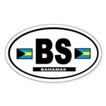 Bahamas International Style Oval Sticker