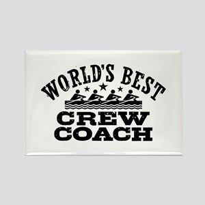World's Best Crew Coach Rectangle Magnet