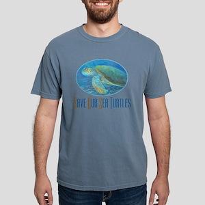 save our sea turtles lit Mens Comfort Colors Shirt