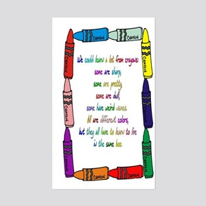 Crayons Rectangle Sticker