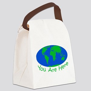 Earth Day You Are Here Canvas Lunch Bag