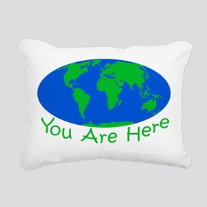 Earth Day You Are Here Rectangular Canvas Pillow