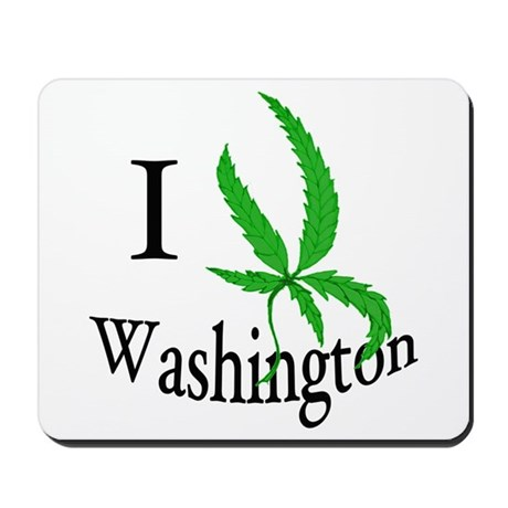 I cannabis Washington Mousepad
