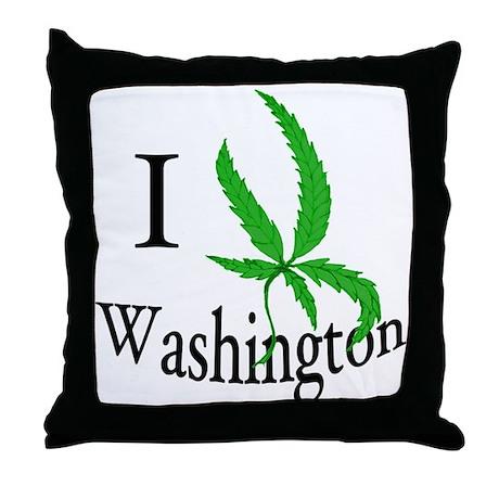 I cannabis Washington Throw Pillow