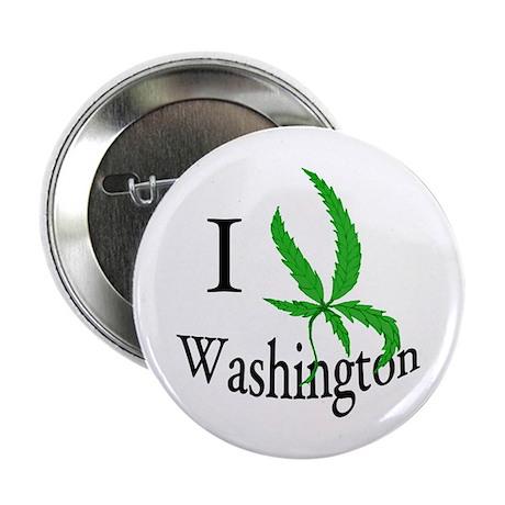 "I cannabis Washington 2.25"" Button"