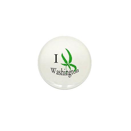 I cannabis Washington Mini Button (100 pack)