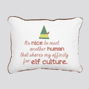 Elf Culture Rectangular Canvas Pillow