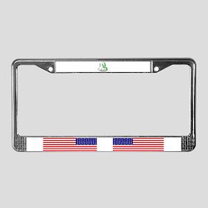 I cannabis Colorado License Plate Frame