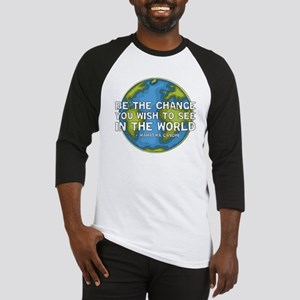 Be the Change - Earth - Green Vine Baseball Jersey