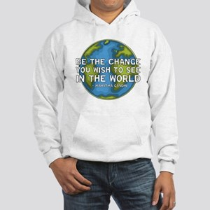Be the Change - Earth - Green Vine Hooded Sweatshi