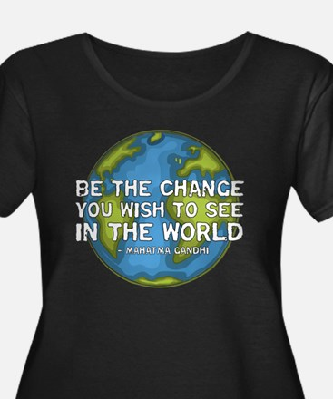 Be the Change - Earth - Green Vine T