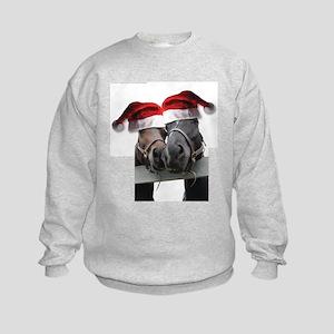 Christmas Horses In Love Kids Sweatshirt