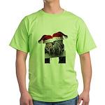Christmas Horses In Love Green T-Shirt