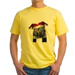 Christmas Horses In Love Yellow T-Shirt