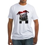 Christmas Horses In Love Fitted T-Shirt