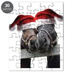 Christmas Horses In Love Puzzle