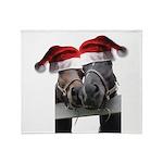 Christmas Horses In Love Throw Blanket