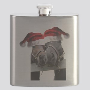 Christmas Horses In Love Flask