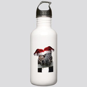Christmas Horses In Love Stainless Water Bottle 1.