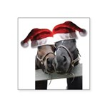 Christmas Horses In Love Square Sticker 3