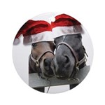 Christmas Horses In Love Ornament (Round)