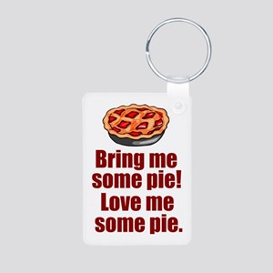 I Love Pie Aluminum Photo Keychain