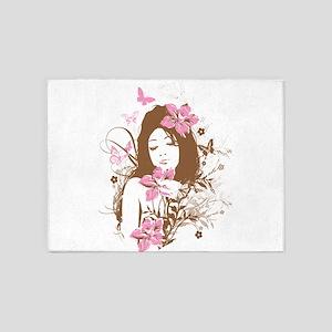 Beautiful Brown Girl 5'x7'Area Rug