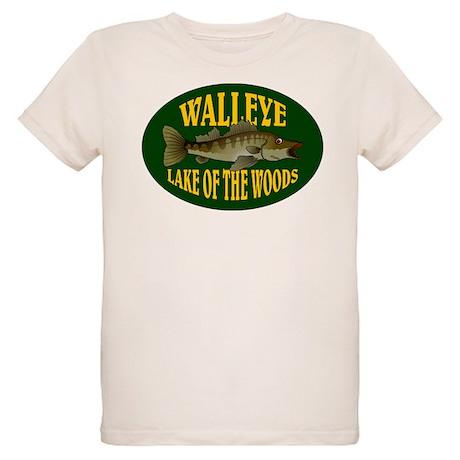 Lake of the Woods Walleye Organic Kids T-Shirt