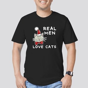 Real Men Love Cats Men's Fitted T-Shirt (dark)