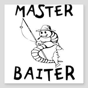 "Master Baiter Square Car Magnet 3"" x 3"""