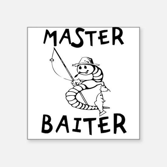 "Master Baiter Square Sticker 3"" x 3"""
