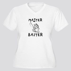 Master Baiter Women's Plus Size V-Neck T-Shirt