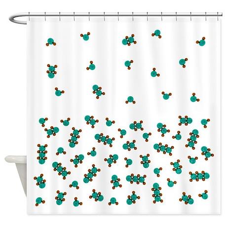 Water Molecule Shower Curtain