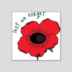 "Lest We Forget Square Sticker 3"" x 3"""