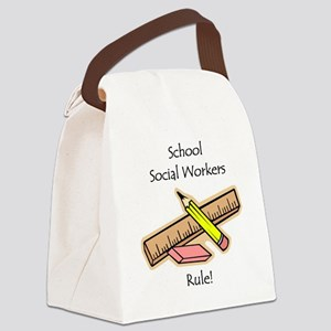 Schools Social Work Canvas Lunch Bag
