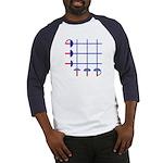 Fencing Sword Grid Baseball Jersey