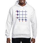 Fencing Sword Grid Hooded Sweatshirt