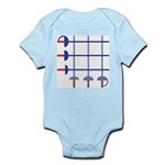 Fencing Sword Grid Infant Bodysuit